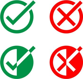 You searched for Green tick mark and red cross icon