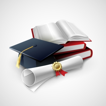 Objects For Graduation Ceremony Vector Illustration EPS 10